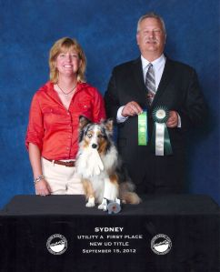 Sydney earns Utility Dog Title